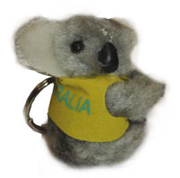 Clip-on Koala - I Love Australia Key Ring (Grey)