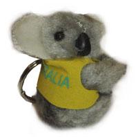 Clip-on Koala - I Love Australia Key Ring (Grey)