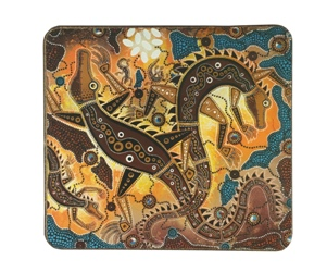 Aboriginal Art Coasters - Crocodile (Set of 6)