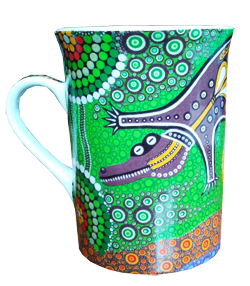 Mug - Aboriginal - Crocodile