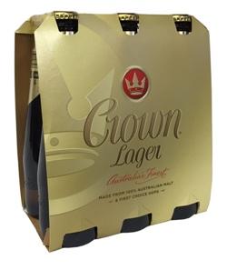 Crown Lager (6 x 375ml bottles)