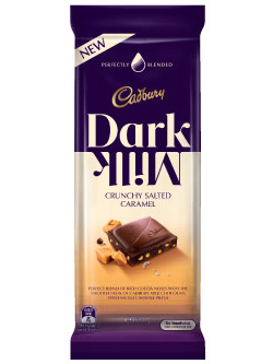 Cadbury Dark Milk Crunchy Salted Caramel (160g)