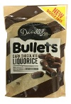 Darrell Lea Dark Chocolate Liqourice Bullets (250g)