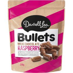 Darrell Lea Milk Chocolate Raspberry Bullets (250g)