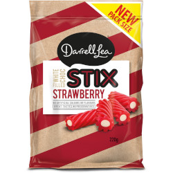 Darrell Lea Strawberry White Choc Stix (220g)
