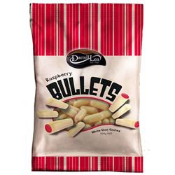 Darrell Lea Raspberry White Choc Bullets (200g)