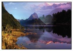 Fridge Magnet 2D - Lake Mathieson Mitre Peak