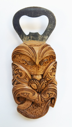 Bottle Opener Fridge Magnet - Tiki