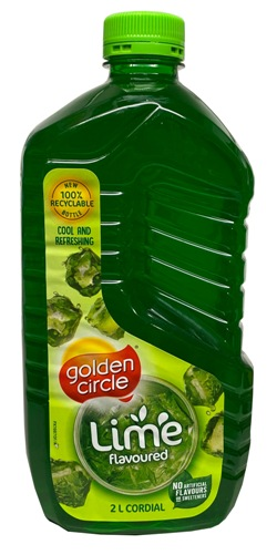 Golden Circle Cordial - Lime (2lt)