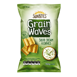 Bluebird Sunbites Grainwaves - Sour Cream & Chives (150g)