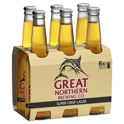Great Northern Super Crisp Lager (6 x 330ml bottles)