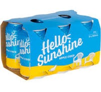 Hello Sunshine Cider (6 x 330ml cans)