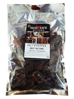 Hunters Sliced Biltong - Salt and Pepper Beef (200g)