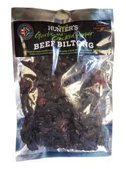 Hunters Sliced Biltong - Garlic Crack Pepper (200g)