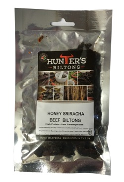 Hunters Sliced Biltong - Honey Sriracha Beef (35g)