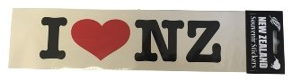 Bumper sticker I heart NZ