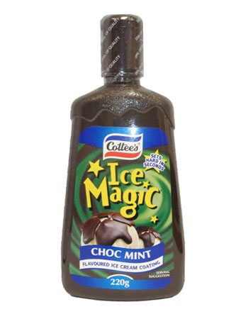 Cottees Ice Magic - Choc Mint (220g)