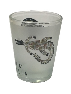 Shot Glass - Jijaka Kangaroo & Crocodile