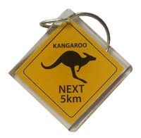 Keyring Kangaroo Road Sign