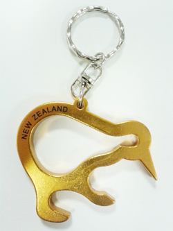 keyring bottle opener kiwi gold souvenirs from new zealand. Black Bedroom Furniture Sets. Home Design Ideas