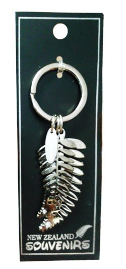 Key Ring - New Zealand - Rhinestone Fern