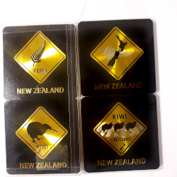 Coasters - NZ Black & Gold (Set of 4)