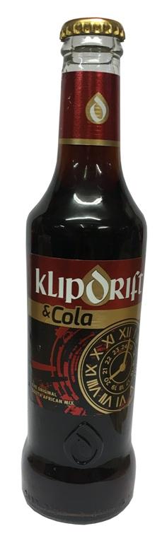 Klipdrift & Cola  (275ml bottle)