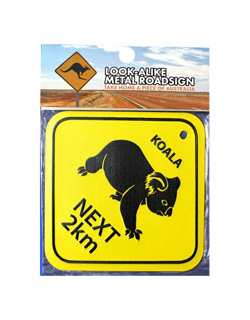 Metal Road Sign - Koalas Next 2km (Large)