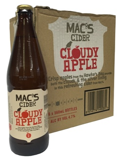 Macs Cloudy Apple Cider (6 x 568ml bottles)
