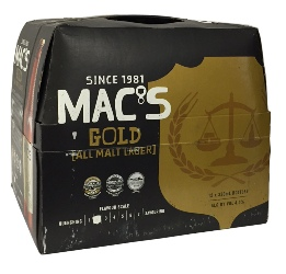 Macs Gold - All Malt Lager (12 x 330ml bottles)