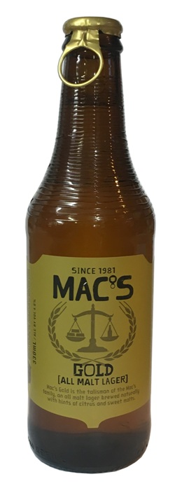 Macs Gold - All Malt Lager (330ml bottle)