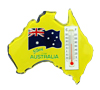 Fridge Magnet with Thermometer - Australian Map - G'day