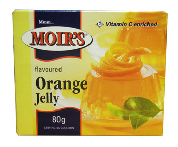 Moirs Jelly - Orange  (80g)