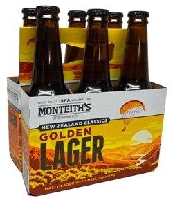 Monteiths Golden Lager (6 x 330ml bottles)