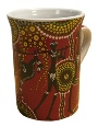Mug - Aboriginal Hunter-Gatherer - Red