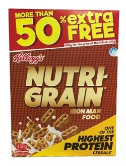 Kelloggs Nutri Grain - More Than 50% Extra Free (450g)
