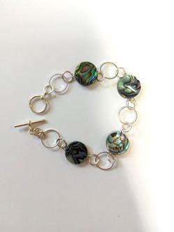 Small Paua Circles Bracelet