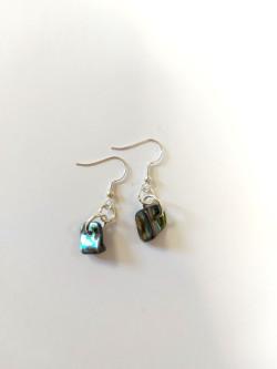 Natural Paua Chunk Earrings