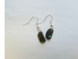 Natural Paua Nugget Earrings