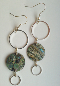 Natural Paua Circles Earrings