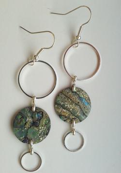 Natural Paua Circles Earrings