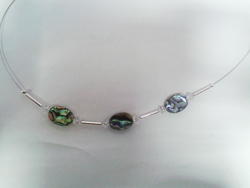 Natural Paua and Swarovski Necklace