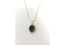 Paua and Blue Swarovski Necklace