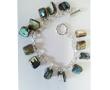 Natural Paua Nugget Charm Bracelet