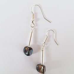 Natural Paua Nugget Drop Earrings