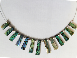 Natural Paua Pyramid 13 Piece Necklace