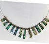 Natural Paua Pyramid 13 Piece Necklace
