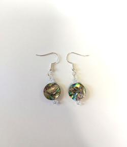 Round Paua Swarovski Earrings