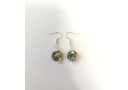 Round Paua Swarovski Earrings