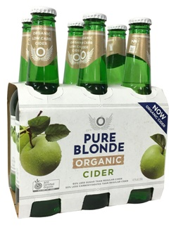 Pure Blonde Organic Cider (6 x 355ml bottles)